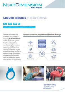 "Cover - ""3D printing Arkema – Custom liquid resin systems"""